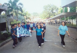 File photo of PM Shift students during a sports fest. With them is Ms. Sabrina Tabil, a former prefect of the MASHS Program.