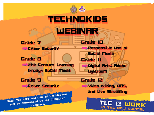 Grade 7 to 12 Webinars